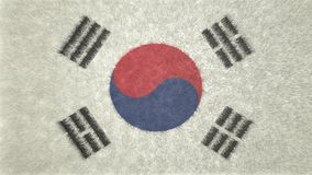 原始的3D图象,韩国的旗子 皇族释放例证