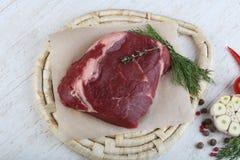 原始的ribeye牛排 免版税图库摄影