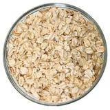 原始碗玻璃的燕麦 免版税库存图片