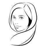 原始秀丽更好的转换女孩的质量 时尚美丽的妇女面孔 墨水 免版税图库摄影