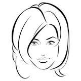 原始秀丽更好的转换女孩的质量 时尚美丽的妇女面孔 墨水 库存图片
