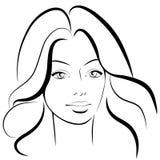 原始秀丽更好的转换女孩的质量 时尚美丽的妇女面孔 墨水 免版税库存照片