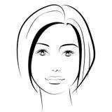 原始秀丽更好的转换女孩的质量 时尚美丽的妇女面孔 墨水 图库摄影