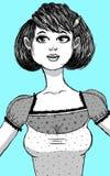 原始秀丽更好的转换女孩的质量 免版税库存照片