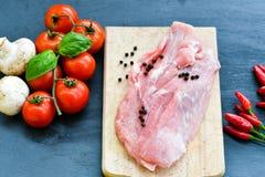 原始肉的猪肉 免版税库存图片
