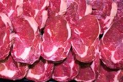 原始背景的肉 免版税库存照片