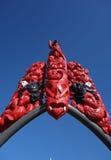 原始艺术和毛利人雕刻 库存照片