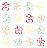 原始花卉无缝的样式 库存图片