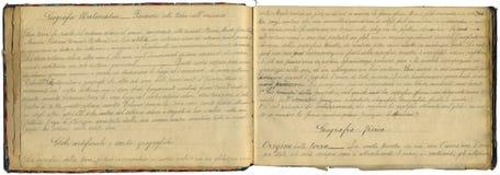 原始葡萄酒笔记本 免版税库存图片