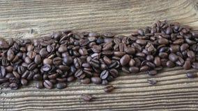原始豆的咖啡 背景豆咖啡木头 影视素材