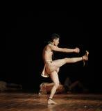 原始部落黑天使现代舞蹈舞蹈动作设计者亨利Yu 库存图片