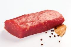 原始鲜肉的片 免版税库存图片