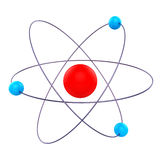 原子分子意味惯例化学制品和研究 向量例证