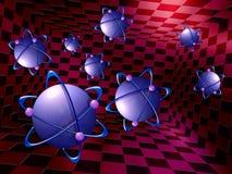 原子分子 向量例证