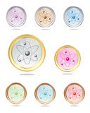 原子图标收集 免版税库存图片