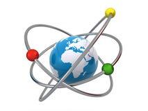 原子地球 库存例证
