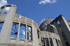 原子弹圆顶的细节在广岛日本2016年 库存图片