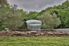 原子弹爆炸圆顶屋博物馆的看法 免版税库存图片