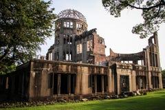 原子弹爆炸圆顶屋, Genbaku圆顶,广岛,日本 免版税库存照片