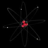 原子形象化 库存图片