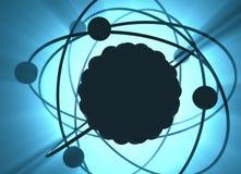 原子核能能量 皇族释放例证