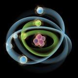 原子模型星球 免版税库存照片