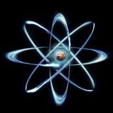 原子模型 免版税库存图片