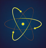 原子的传染媒介例证 库存图片