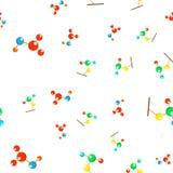 原子科学无缝的样式传染媒介 生物象 化工实验室 逗人喜爱的图表纹理 纺织品背景 动画片 皇族释放例证