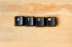 原子词 免版税库存照片