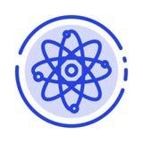 原子,化学,分子,实验室蓝色虚线线象 向量例证