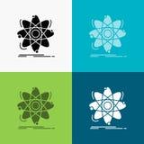 原子,科学,化学,物理,在各种各样的背景的核象 r 10 eps 皇族释放例证
