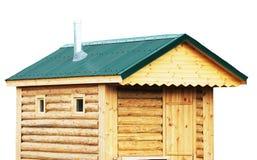 原木小屋、蒸汽浴外部、土气房子或者芬兰蒸汽浴- isol 免版税库存照片