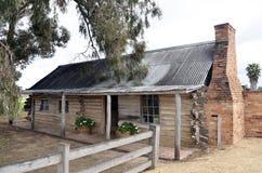 原木小屋。 库存照片