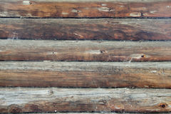 原木小屋的墙壁 免版税库存图片