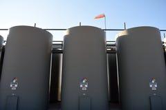 原油生产存贮在Niobrara页岩的接受器 库存照片