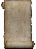 原稿粗砺羊皮纸的卷 免版税库存照片