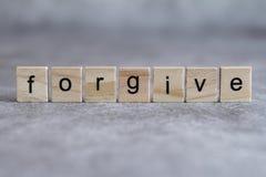 原谅在木立方体写的词 库存图片