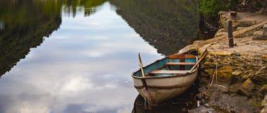 原野划艇 库存图片