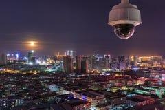 厦门东部山别墅晚上,中国 库存照片