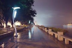 厦门多雨晚上 免版税库存图片