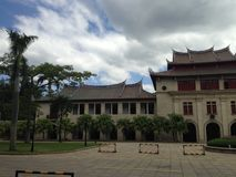 厦门大学,其中一所在ChinaCampus场面的最美丽的大学, 免版税图库摄影