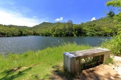 厦门大学,多孔黏土rgb华伦泰谷的Lover湖  免版税图库摄影