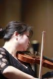 厦门歌曲和舞蹈团乐队第一小提琴lilei 免版税图库摄影