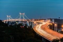 厦门海沧大桥夜 免版税库存照片