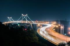 厦门海沧大桥夜 图库摄影