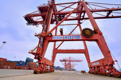 厦门港口操作范围,福建,中国 库存照片