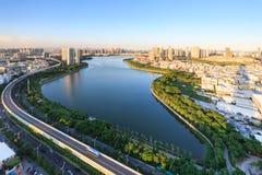厦门湖边水库庭院,中国 库存照片