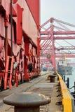 厦门船坞操作,福建,中国 免版税图库摄影