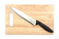厨刀 免版税库存图片